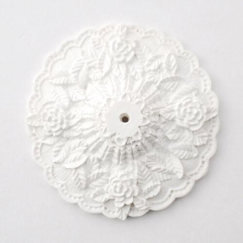 "Dollhouse Miniature Large Cast Resin Ceiling Rose Medallion 1:12 Scale 2 7//8/"""