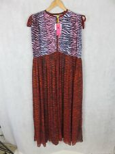 KENZO X H&M SILK BOHO STYLE DRESS OVERSIZED SIZE S AUTHENTIC NEW WITH TAGS
