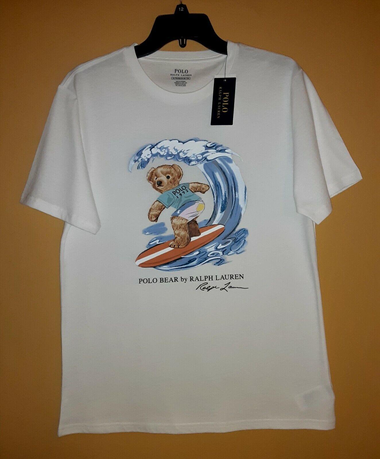 Polo Surfer Bear Ralph Lauren T-shirt Short Sl XL (18-20 youth)=men M =women L