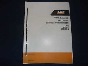 case 445 445ct series 3 compact track skid steer loader parts book rh ebay com Case 445CT Skid Steer Case 450CT Parts