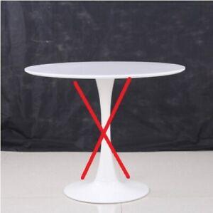 Details zu Solo base e piano Tavolo tondo pranzo Saarinen Tulip bianco diam  90 cm scultura
