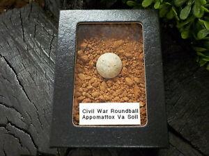 Old Rare Vintage Civil War 69 Cal. Roundball Appomattox VA Confederate Camp Soil