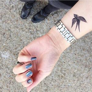 kunst schwalbe tattoo aufkleber wasserdicht schwarz. Black Bedroom Furniture Sets. Home Design Ideas