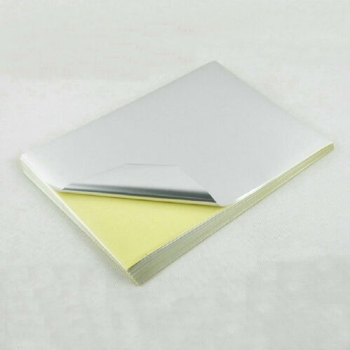 50 sheets A4 PET silver sticker 297X210mm Only For Laser Printer Self Adhesive
