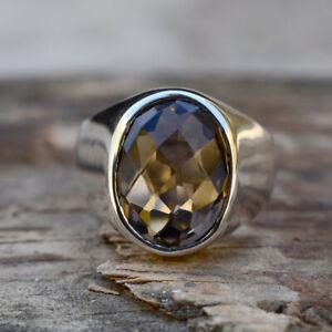 Smoky Quartz Jewelry,Smoky Quartz  Ring,Wome Fashion Natural Smoky Quartz\u2019s,Birthstone,Sterling,925 Sterling silver Ring,Natural Gemstone
