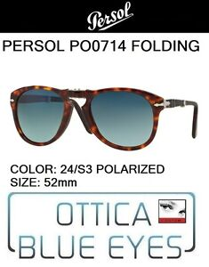 c3bac6899b PERSOL 0714 24 S3 52mm polar CUSTOM Sunglasses folding pieghevole ...