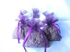 10-Duftsaeckchen-10-Lavendelsaeckchen-lila-Organza-Gastgeschenk-Schrankduft