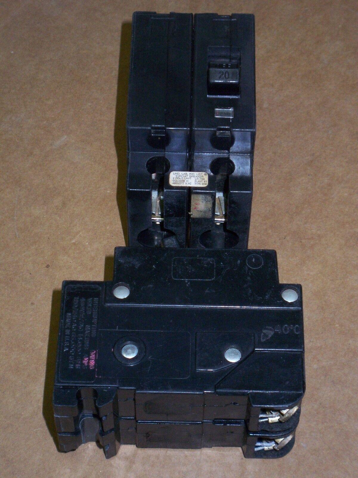 SQUARE D EH4 CIRCUIT BREAKER 2 POLE 20 AMP EH24020