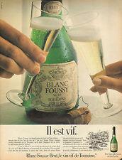 Publicité Advertising 1981  BLANC FOUSSY vin vif de TOURAINE brut