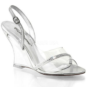 glass wedding shoes. image is loading clear-wedges-cinderella-glass-slippers-bridesmaid-wedding- shoes- glass wedding shoes t