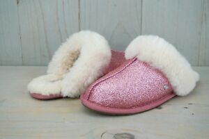 3ae84ecfef21 Image is loading UGG-SCUFFETTE-II-SPARKLE-GLITTERY-PINK-1100177-WOMENS-