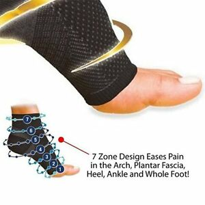 New-Ankle-Unisex-Compression-Foot-Angel-Sleeve-Arch-Heel-Pain-Relief