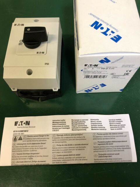 Eaton/Moeller Ein-Aus-Schalter im Gehäuse T0-2-1/I1