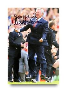 Sir-Alex-Ferguson-Signed-6x4-Photo-Manchester-United-Manager-Autograph-COA