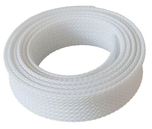 1m Braided Hose 7-16mm White