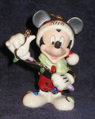 Lenox Disney 2018 Merry /& Bright Mickey Ornament