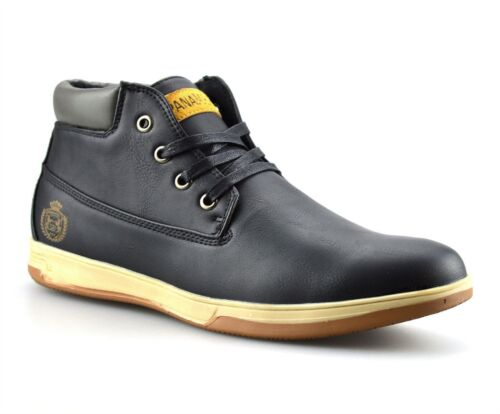 Mens Casual Walking Hiking Trail Work Desert Chukka Lace Ankle BOOTS Shoes  Size UK 7 Black  eBay