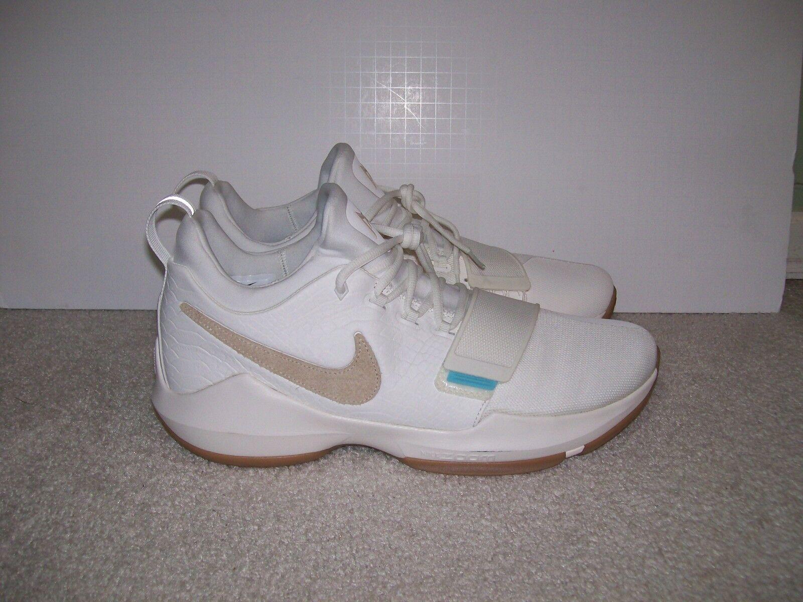 SZ 14 Nike PG 1 Summer Pack Pack Pack Ivory Oatmeal Gum 878627-110 PE Prossootype 2 3 Nasa c2efa1