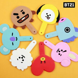 BTS BT21 Official Authentic Goods Silicone Hand Mirror 7Characters By Kumhong