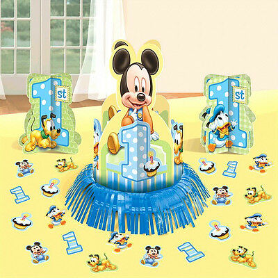 Baby Micky Mouse 1st Birthday Table Centerpiece Decoration Kit Party Supplies