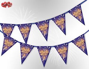 La-notte-FALO-039-5th-del-Nov-Guy-Fawkes-Bunting-Banner-15-Bandiere-da-Festa-Decor