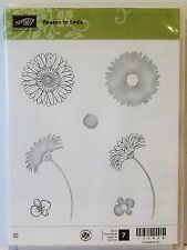 Stampin Up REASON TO SMILE clear mount stamps NEW flowers floral