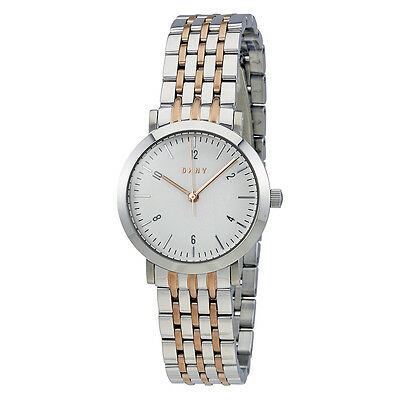 DKNY Minetta White Dial Ladies Two Tone Watch NY2512