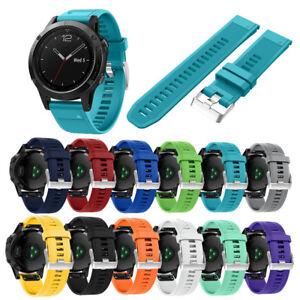 Para-Garmin-Fenix-5-GPS-Recambio-Silicage-Rapido-Instalacion-Reloj-Wirst-Correa