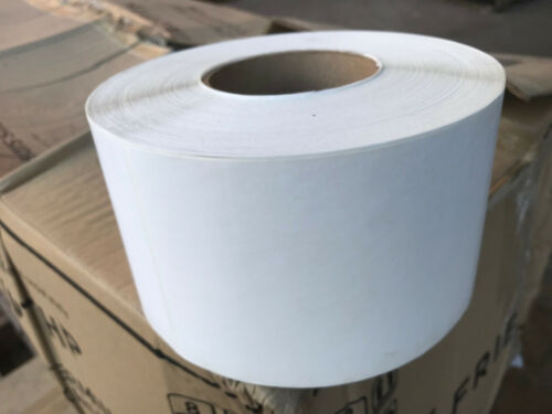 """4rolls x 1000ea 4/"""" x 6/"""" WHITE LABELS sticky adhesive E-CTT400600-3"""