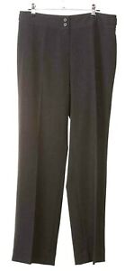 Jones-New-York-Women-039-s-Size-6-Gray-Polyester-Blend-Flat-Front-Zip-Fly-Pants