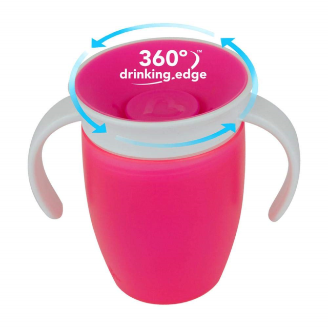 Munchkin Miracle 360 Trainer Cup 207ml Pink