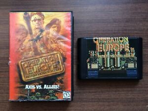 """opération Europe: Path To Victory 1939-45"" Sega Mega Drive/genesis Game Used-afficher Le Titre D'origine"