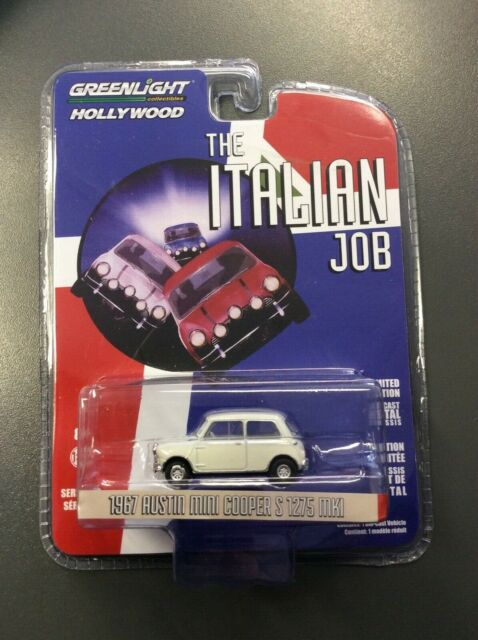 Greenlight 1//64 Scale The Italian Job 1967 Austin Mini Cooper 1275 Mk1 Blue for sale online