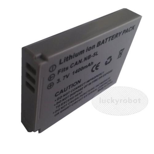Paquete de batería de Ion Nb-5l Canon Digital Ixus 90 95 870 900 Ti es Powershot Sd700 Is