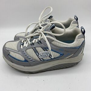 Sketchers-Shape-Ups-11814-Womens-Walking-Toning-Shoes-Gray-White-Size-7-5-Blue