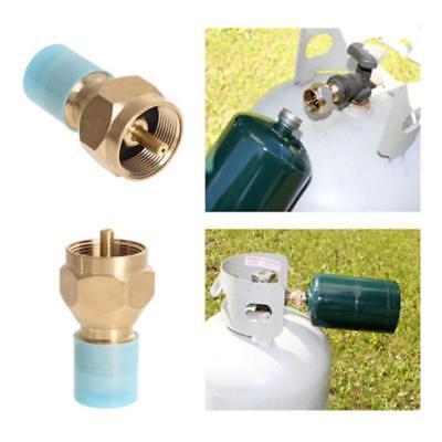 1x Propane Refill Adapter LP Gas 1 Lb Cylinder Tank Heater Brass Coupler L6D8