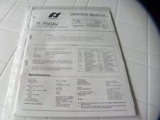 Sansui Factory Original Service Manual R-750AV  Audio/video Stereo Receiver