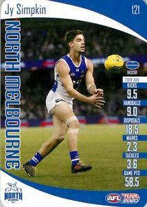 New-2020-NORTH-MELBOURNE-KANGAROOS-AFL-Card-JY-SIMPKIN-Teamcoach