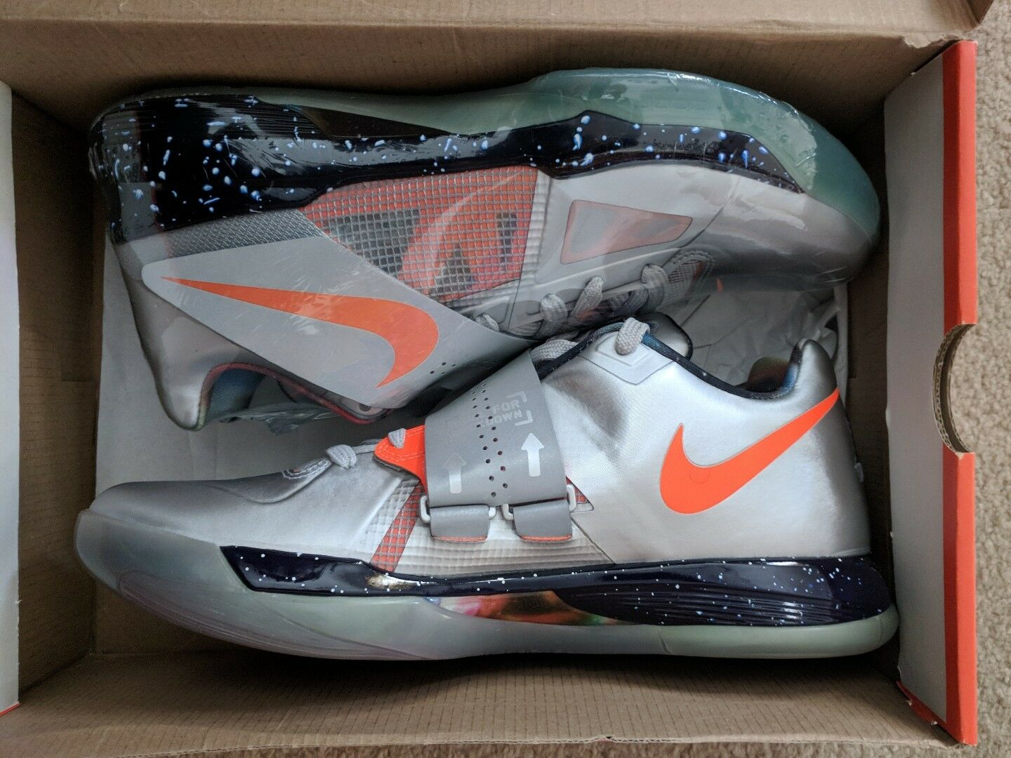Nike KD IV ASG Galaxy Big Bang sz 10.5 DS BNIB 100 % Authentic RIF SF