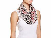 Bloomingdale's Helene Berman Women's Pink Floral Animal Silk Scarf Rv$128