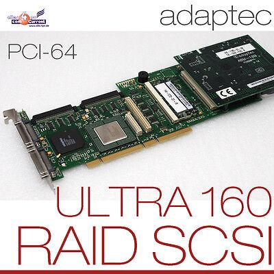Leale Scsi Pci-64bit Adaptec Ultra Wide 160 Controller 3200s 0 M Raid 0 1 5/2x 68-pin Senza Ritorno