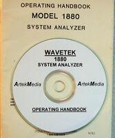 Wavetek 1880 Operating Manual