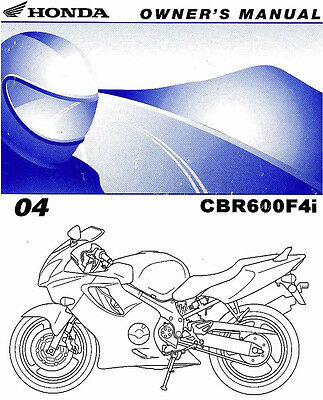Buy new 03 honda cbr600f4i cbr 600 f4i owners manual motorcycle in.