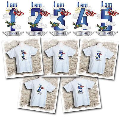 I am 3 I am 4 Personalised Planes//airplane t shirt- I am 1,I am 2 I am 5