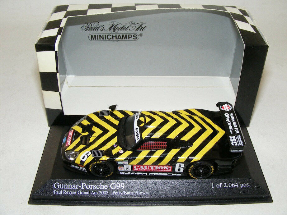 1 43 MINICHAMPS Gunnar Porsche GT1  G99. 2003 Paul River Gran Am Race  jusqu'à 42% de réduction