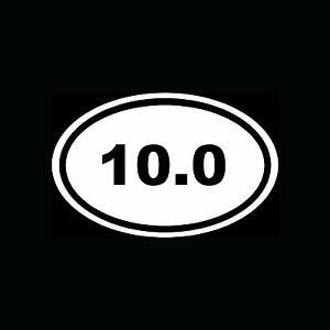 10-0-Sticker-Oval-Car-Window-Decal-Vinyl-White-Euro-Marathon-Run-Race-10-mile