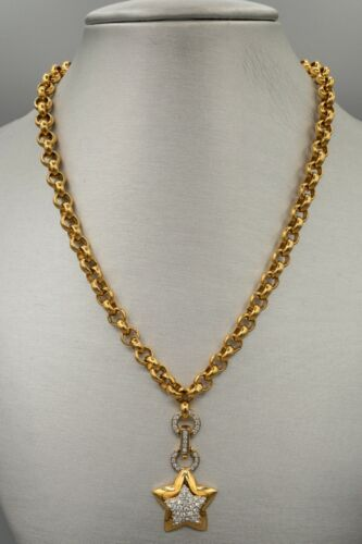 Swarovski Crystal Necklace, Gold Tone Star Pendant