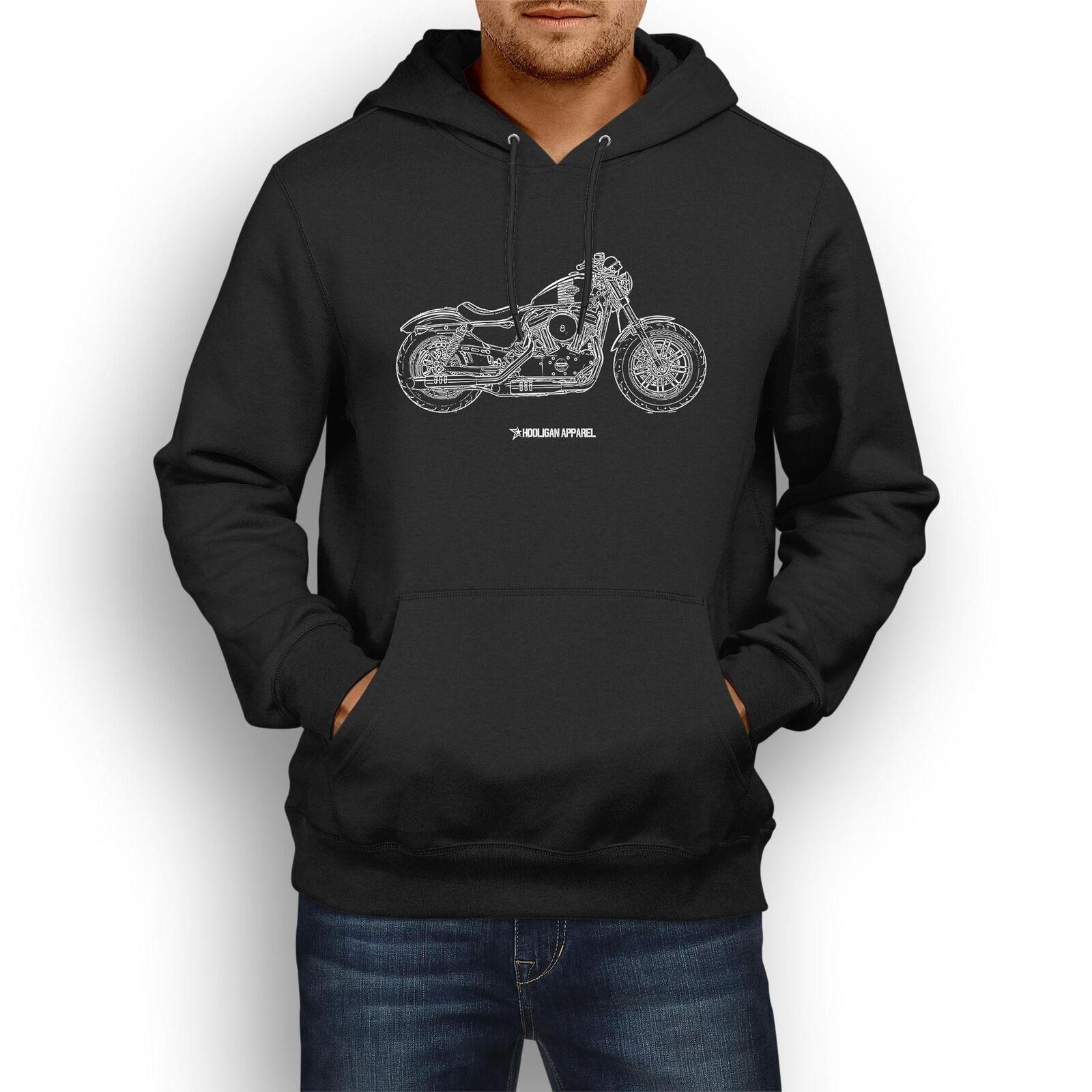 Harley Davidson Forty Eight Inspired Motorcycle Art Men's Hoodie