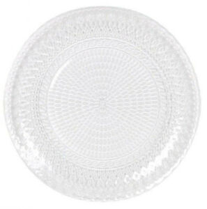 4 PIECE SET GLASS DINNER PLATES MAIN COURSE 26cm VICEVERSA HAND MADE