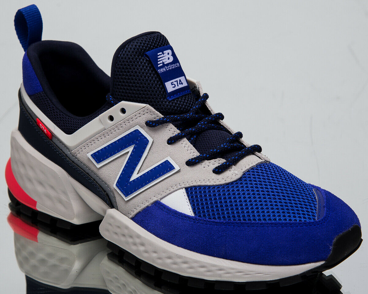 New Balance 574 Sport Mens Munsell Weiß Casual Lifestyle Turnschuhe MS574-UG